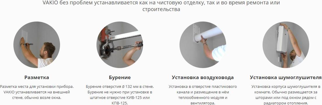 Схема по монтажу и установке Vakio Base и Lumi