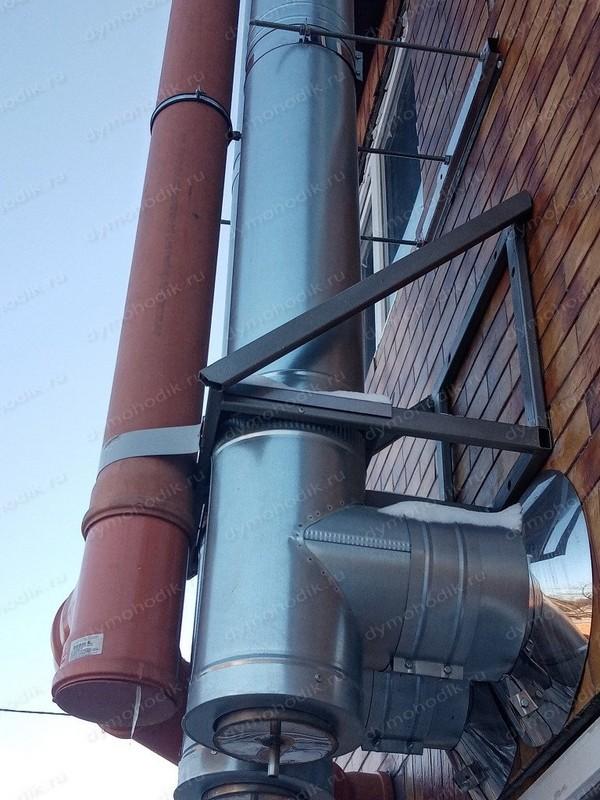 Отзыв на сэндвич-дымоход нержавейка-оцинковка установленный в городе Тула