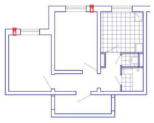 УВРК-50М (МА) в двухкомнатной квартире