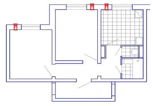 3 прибора УВРК-50М (МА) в двухкомнатной квартире с подключением кухонной вытяжки