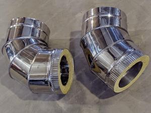 Производство сэндвич отводов 115x200 мм для дымоходов