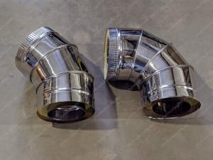 Сэндвич отвод 115x200 мм из нержавеющей стали