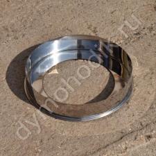 Купить кольцевую заглушку 115x200 мм из нержавеющей стали для дымохода