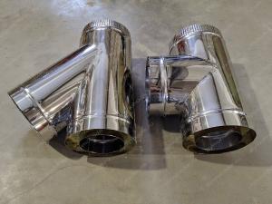 Сэндвич тройники 120/200 мм из нержавеющей стали