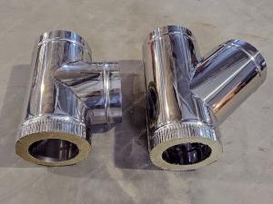 Производство сэндвич тройников 115x200 мм для дымоходов