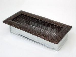 Вентиляционная решетка Kratki 11x24 Оскар черная/медь