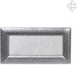 Вентиляционная решетка Kratki 11x24 Оскар черная/хром