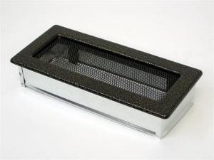 Вентиляционная решетка Kratki 11x24 Черная/латунь пористая