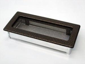 Вентиляционная решетка Kratki 11x24 Черная/медь пористая