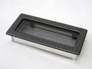 Вентиляционная решетка Kratki 11x24 Черная/хром пористая