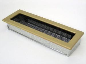 Вентиляционная решетка Kratki 11x32 Гальваника под золото