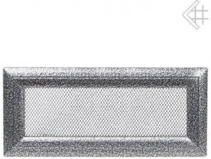 Вентиляционная решетка Kratki 11x32 Оскар черная/хром
