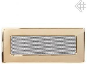 Вентиляционная решетка Kratki 11x32 Полированная латунь