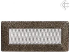 Вентиляционная решетка Kratki 11x32 Черная/латунь пористая