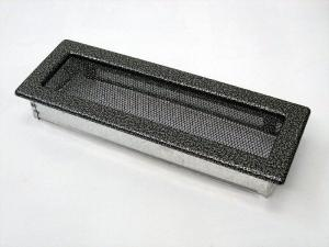 Вентиляционная решетка Kratki 11x32 Черная/хром пористая
