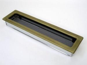 Вентиляционная решетка Kratki 11x42 Гальваника под золото
