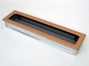 Вентиляционная решетка Kratki 11x42 Гальваника под медь