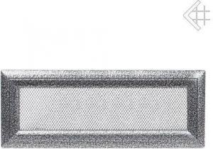 Вентиляционная решетка Kratki 11x42 Оскар черная/хром