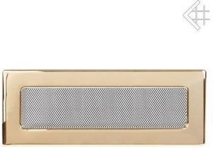 Вентиляционная решетка Kratki 11x42 Полированная латунь