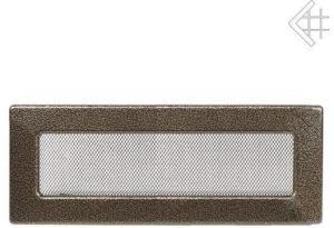 Вентиляционная решетка Kratki 11x42 Черная/латунь пористая