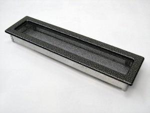 Вентиляционная решетка Kratki 11x42 Черная/хром пористая