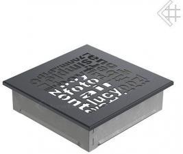 Вентиляционная решетка Kratki 17x17 ABC графитовая
