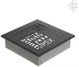 Вентиляционная решетка Kratki 17x17 ABC черная