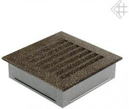 Вентиляционная решетка Kratki 17x17 FRESH черная латунь пористая