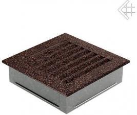 Вентиляционная решетка Kratki 17x17 FRESH черная медь пористая