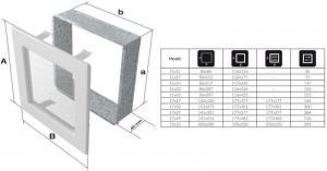 Фото чертежа и размера вентиляционной решетки Kratki 17x17 Venus Swarovsky белая