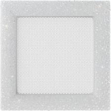 Вентиляционная решетка Kratki 17x17 Venus Swarovsky белая