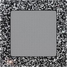 Вентиляционная решетка Kratki 17x17 Venus Swarovsky черно-серебристая
