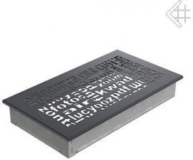 Вентиляционная решетка Kratki 17x30 ABC графитовая