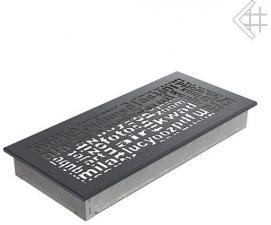 Вентиляционная решетка Kratki 17x37 ABC графитовая