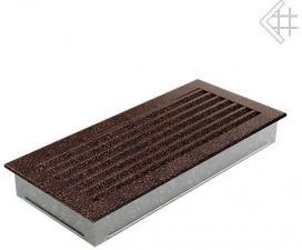 Вентиляционная решетка Kratki 17x37 FRESH черная медь пористая