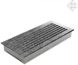 Вентиляционная решетка Kratki 17x37 FRESH черная хром пористая