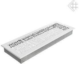 Вентиляционная решетка Kratki 17x49 ABC белая
