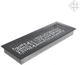 Вентиляционная решетка Kratki 17x49 ABC графитовая