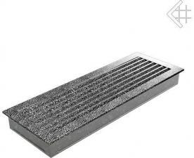 Вентиляционная решетка Kratki 17x49 FRESH черная хром пористая