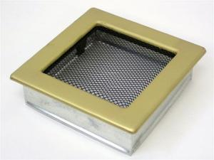 Вентиляционная решетка Kratki 17x17 Гальваника под золото