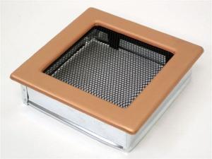 Вентиляционная решетка Kratki 17x17 Гальваника под медь