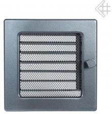 Вентиляционная решетка Kratki 17x17 Графитовая с жалюзи