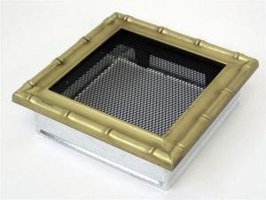 Вентиляционная решетка Kratki 17x17 Диана латунь