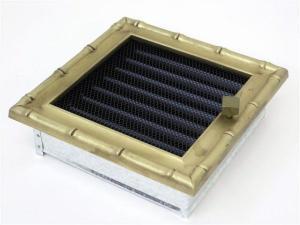 Вентиляционная решетка Kratki 17x17 Диана латунь с жалюзи