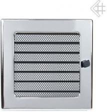 Вентиляционная решетка Kratki 17x17 Никелированная с жалюзи