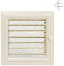Вентиляционная решетка Kratki 17x17 Оскар бежевая с жалюзи