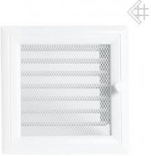 Вентиляционная решетка Kratki 17x17 Оскар белая с жалюзи