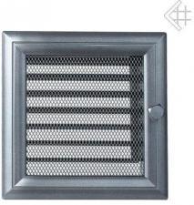 Вентиляционная решетка Kratki 17x17 Оскар графитовая с жалюзи