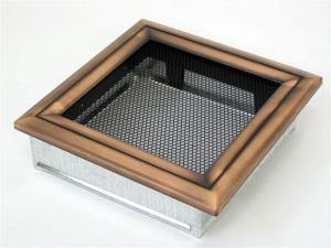 Вентиляционная решетка Kratki 17x17 Оскар медь