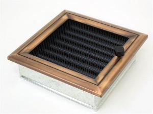 Вентиляционная решетка Kratki 17x17 Оскар медь с жалюзи